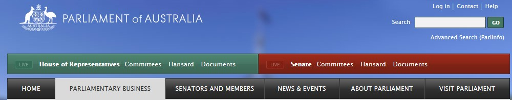 Parliament website